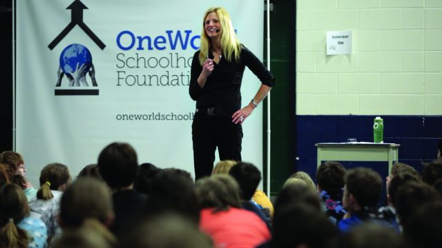 Co-Founder Sonya White addresses students in Simcoe County image